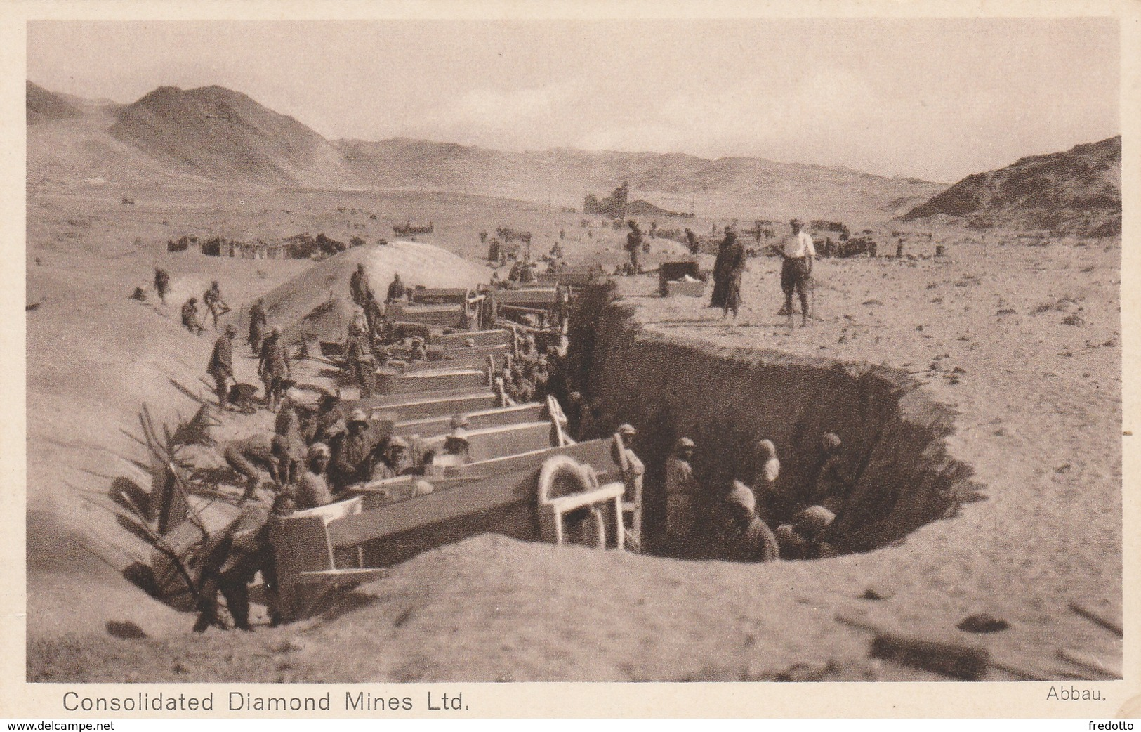 Deutsche Kolonie-Afrika-Consolidate Diamond Mines Ltd.-Abbau - Ehemalige Dt. Kolonien