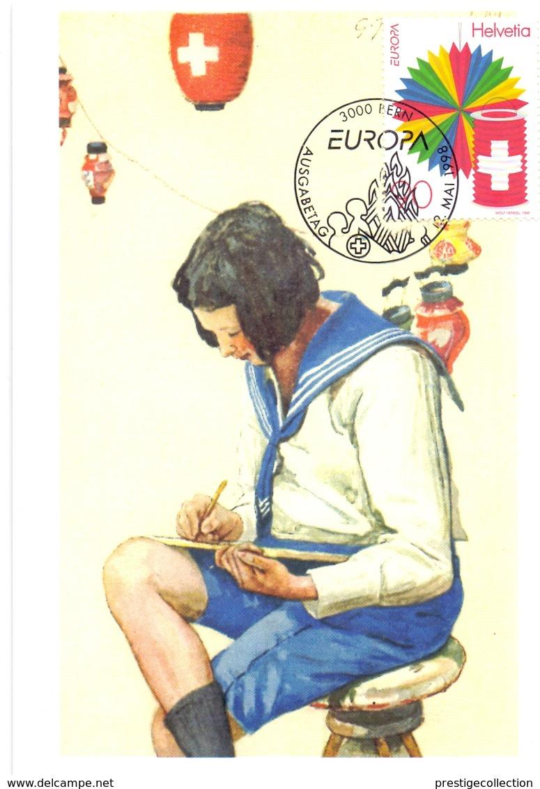 HELVETIA BERN EUROPA  MAXIMUM  POST CARD   (GENN2001197) - Primo Soccorso