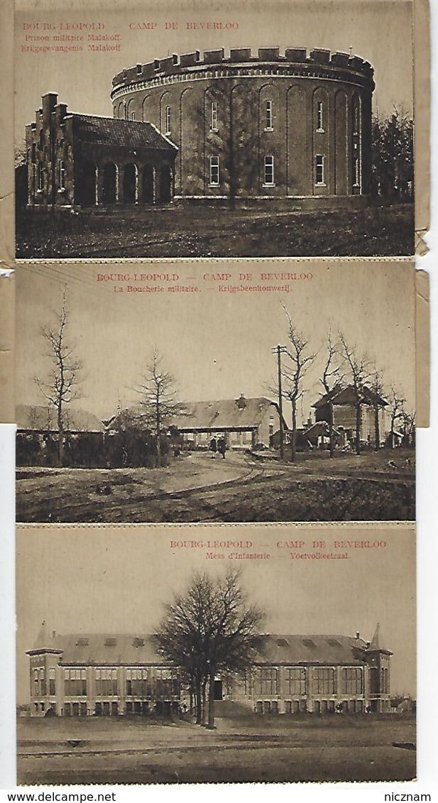 CPA Camp De BEVERLOO Carnet De 10 Cartes (il N'en Reste Que 3) - Leopoldsburg (Kamp Van Beverloo)