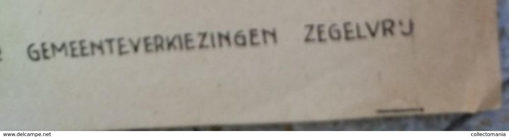 één Affiche 70X50cm - Anno 1946 C.V.P. Gemeente Antwerpen Verkiezingen Slogan  FAIR PLAY  Huysmans - Van Marc Sleen - Collectors