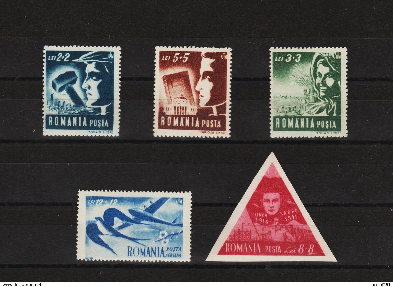 1948 - Union Des Jeunes Travailleurs Mi No 1101/1105 Et Yv No 1038/1041 + P.A. - 1948-.... Republiken