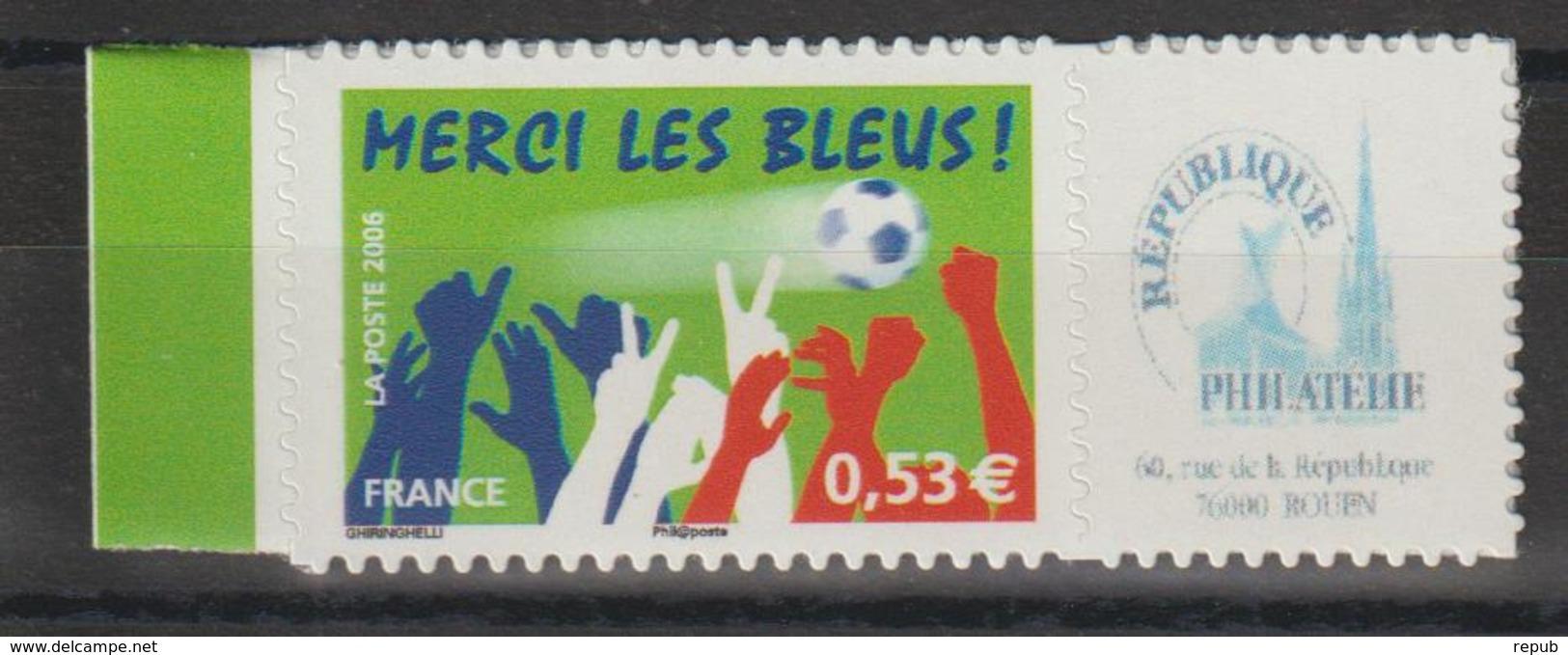 France Personnalisés 2006 Merci Les Bleus 3936B ** MNH - Francia