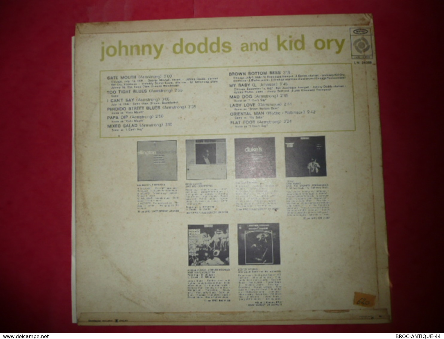 LP N°1830 - JOHNNY DODDS & KID ORY - COMPILATION 12 TITRES JAZZ - Jazz