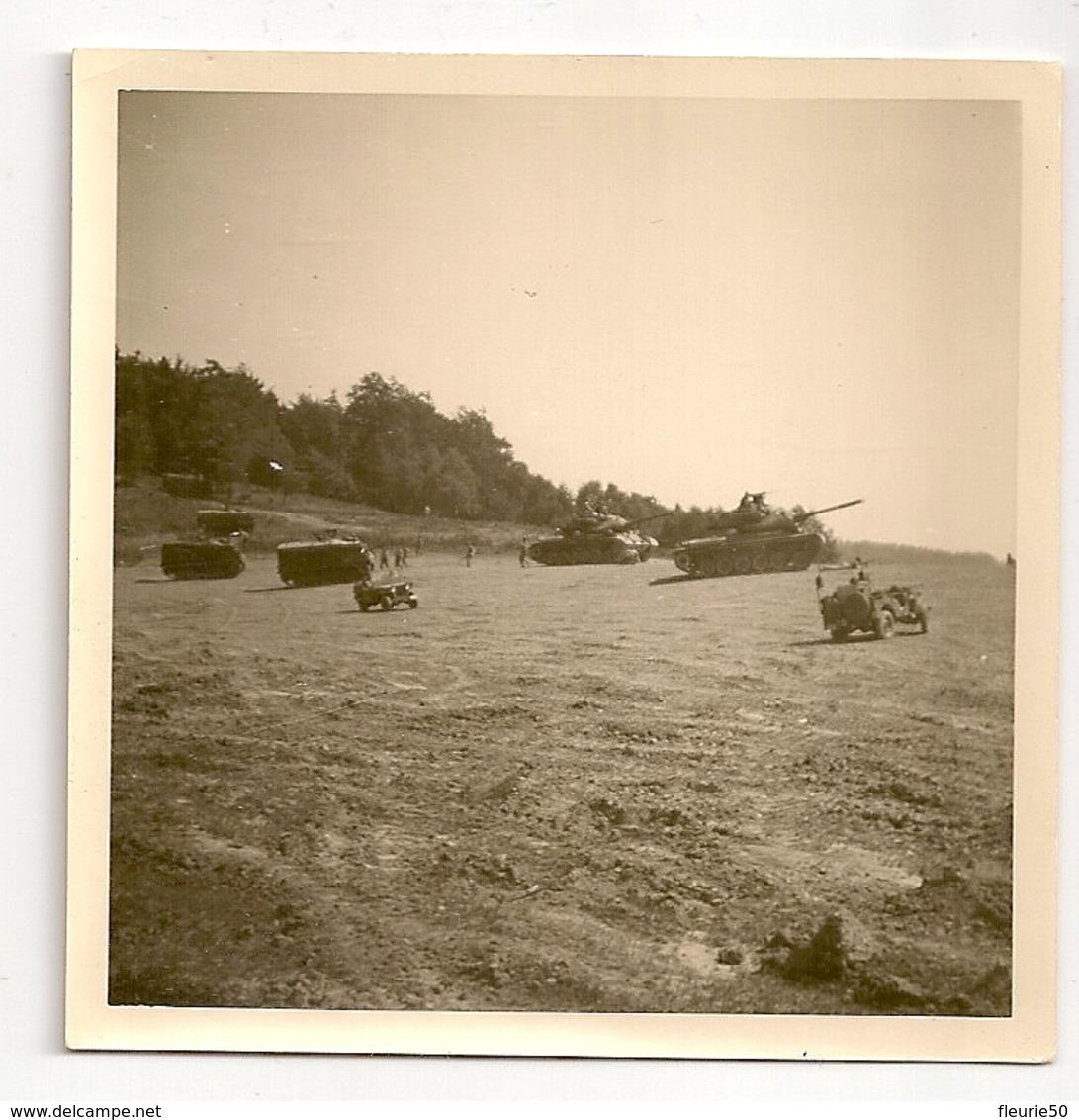 PHOTO - Vogelsang 1967 2e Jagers Te Paard, Char( Tank) Patton + 12e De Ligne, Full Track M 75 + Jeep. - Véhicules