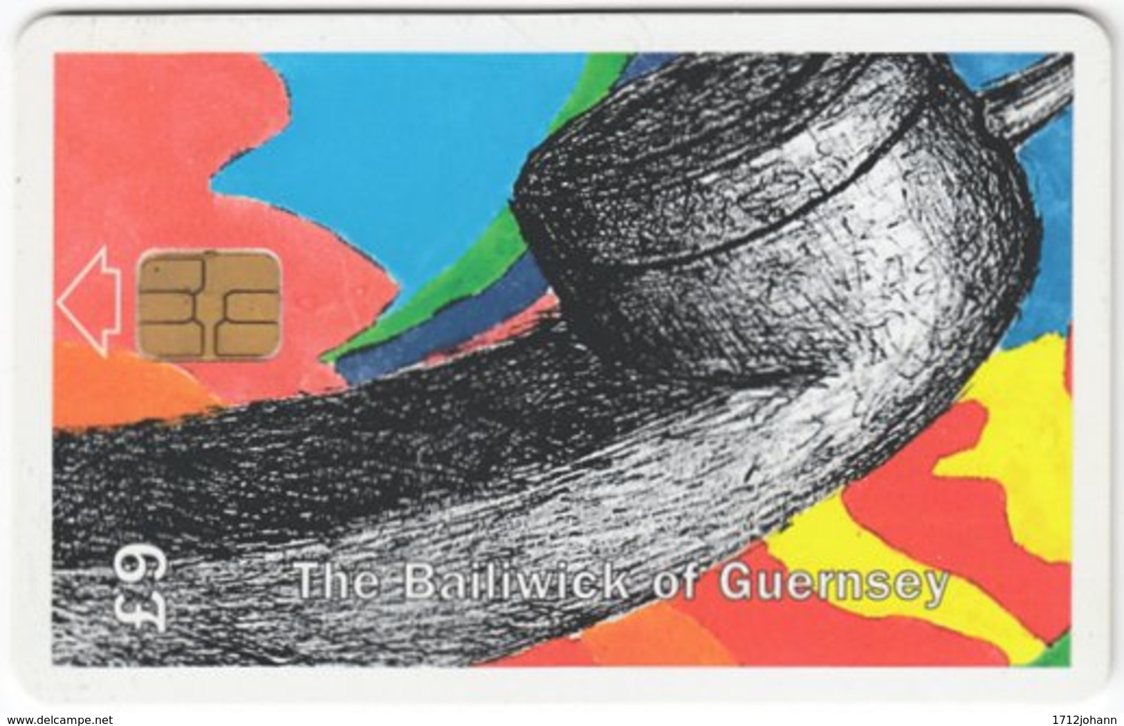 GUERNSEY A-045 Chip Telecom - Communication, Telephone - Used - Ver. Königreich