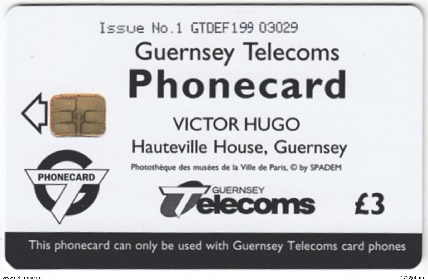 GUERNSEY A-049 Chip Telecom - Writer, Victor Hugo - Used - Ver. Königreich