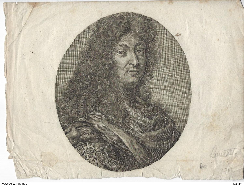 Gravure Portrait LOUIS XIV - Prenten & Gravure