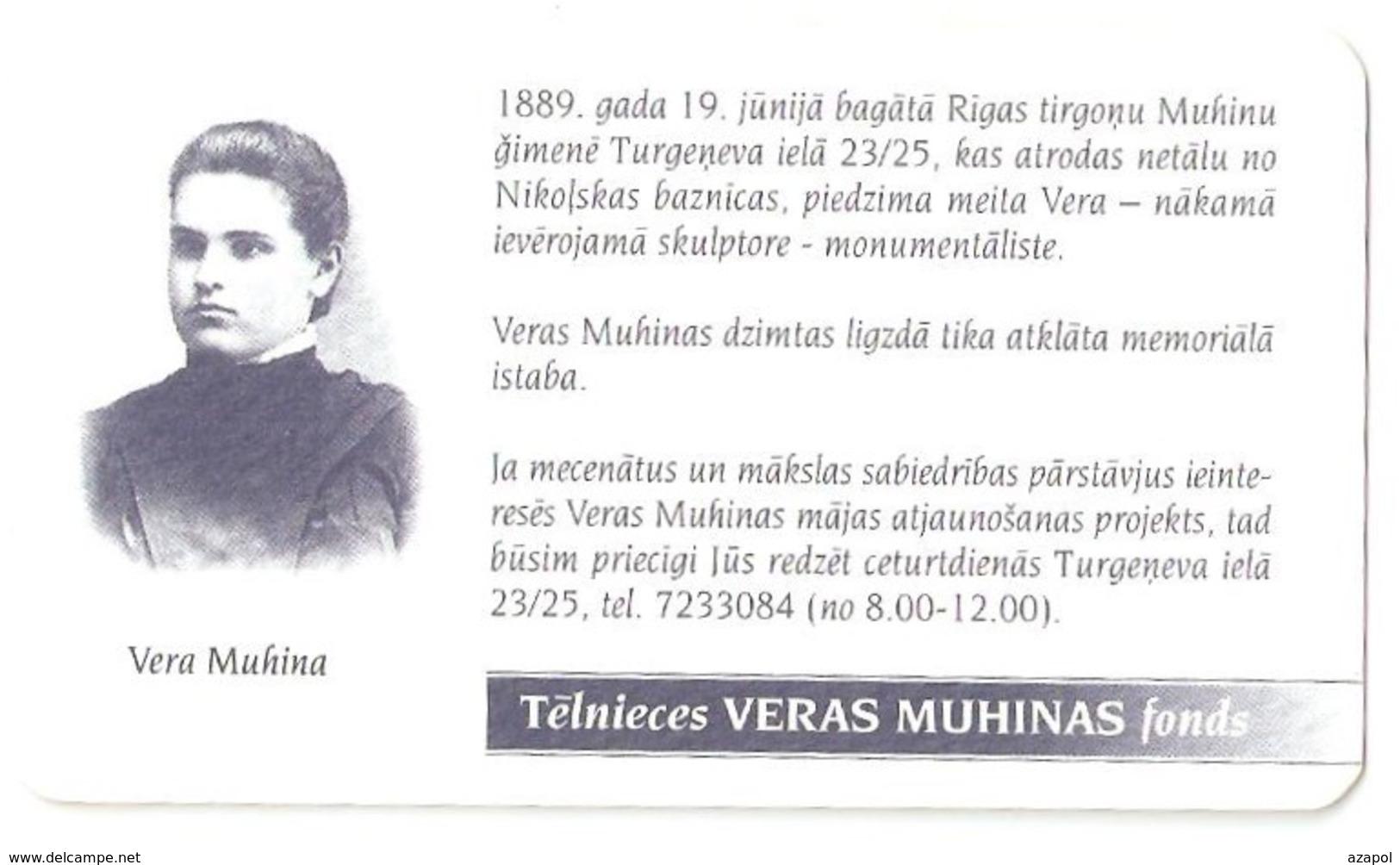 Pocket Calendar: Latvia, 1999, Vera Muhina, Russian Sculptor - Petit Format : 1991-00