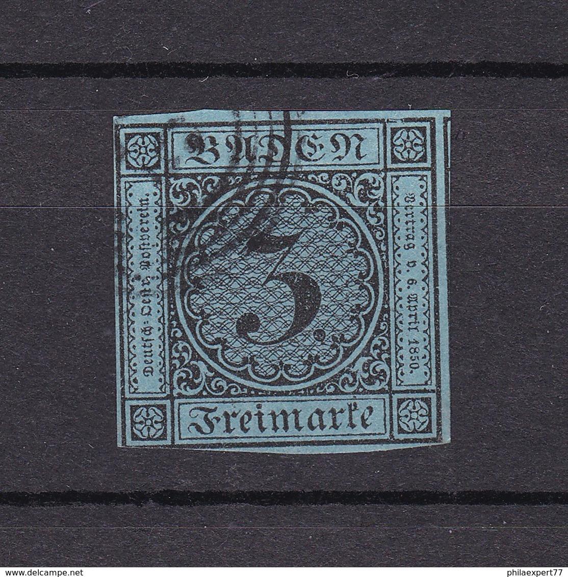 Baden - 1858 - Michel Nr. 8 - Gest. - 40 Euro - Bade