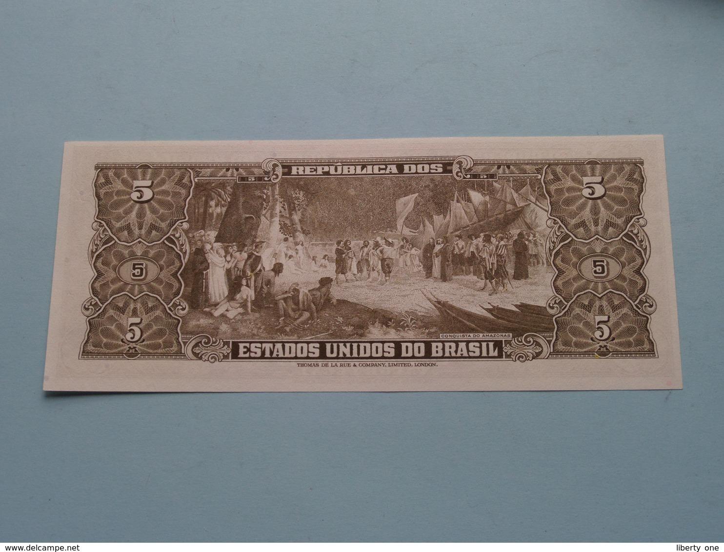 CINCO CRUZEIROS > BRASIL ( For Grade, Please See Photo ) UNC ! - Brasilien