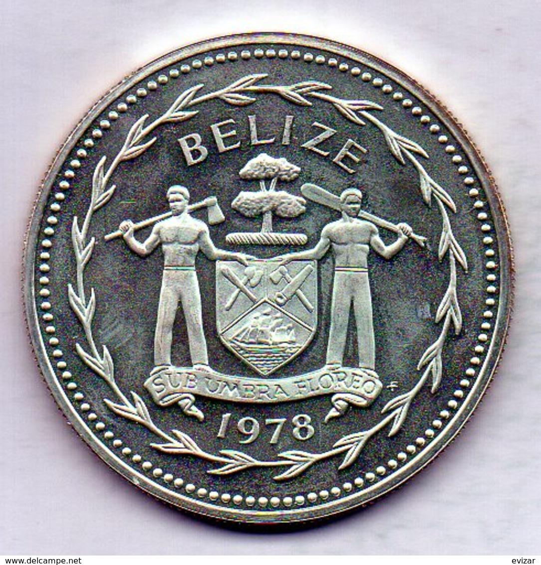 BELIZE, 5 Dollars, Silver, Year 1978, KM #44a - Belize