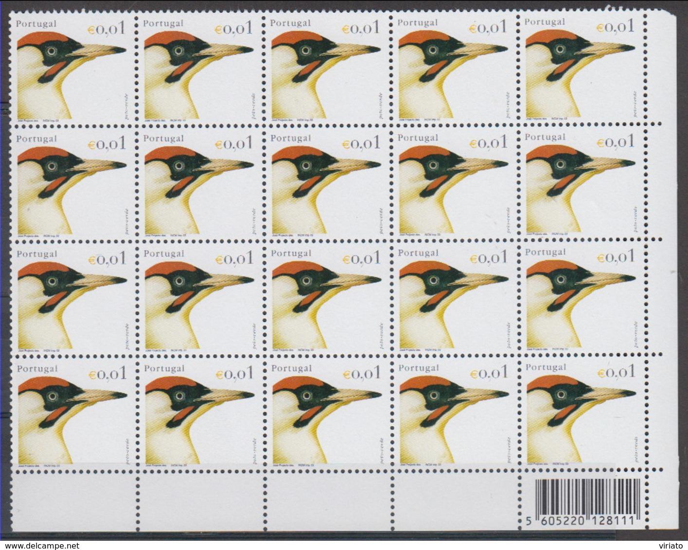 Portugal 2003 (MNH) (Mi 2642) (AVE204) - European Green Woodpecker (Picus Viridis) - Specht- & Bartvögel