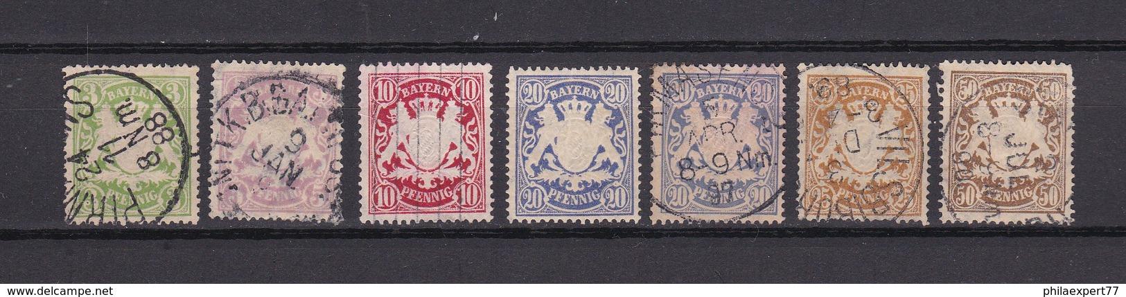 Bayern - 1888/1900 - Michel Nr. 54/59 - Gest. - 45 Euro - Bayern