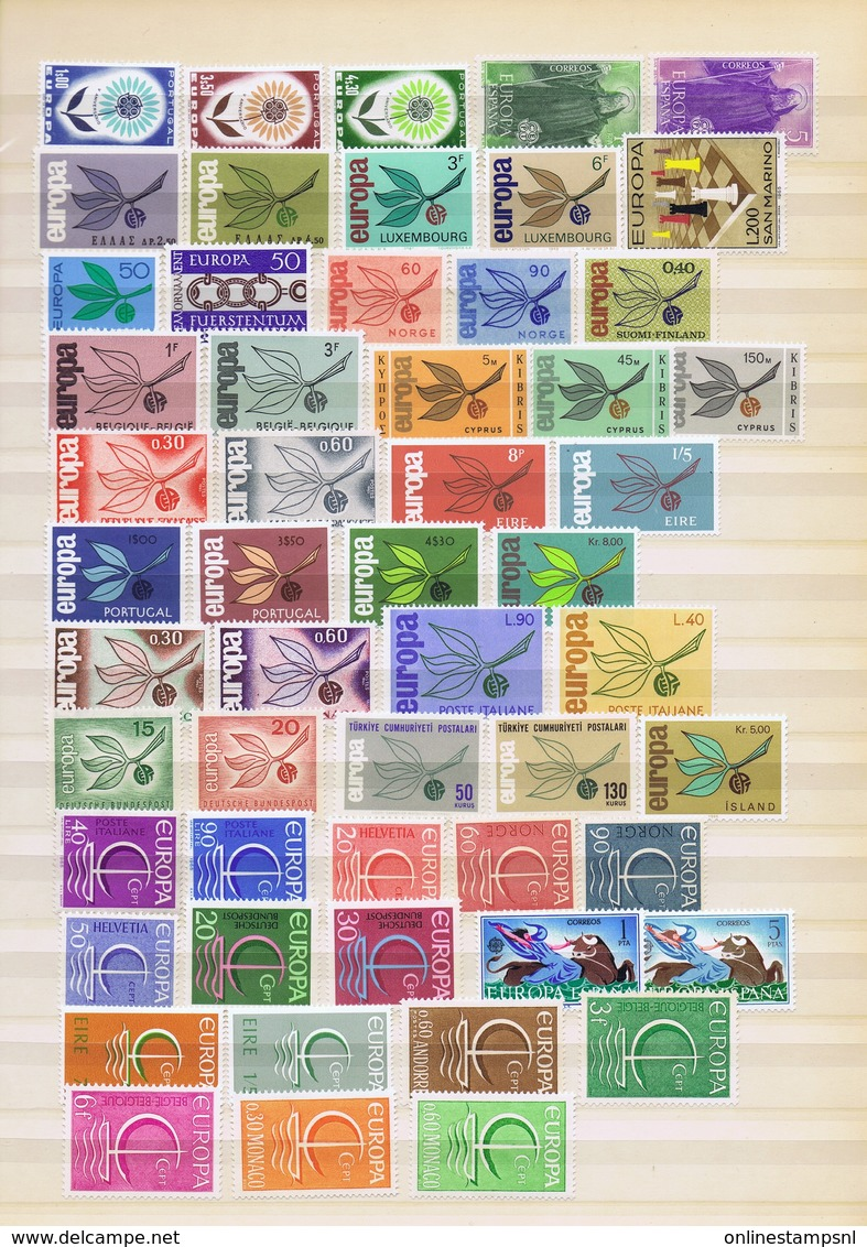 Europa 1957/1967 - CEPT Europian Union Europe  MNH/**  Including Better Material Cyprus / Portugal - Andere-Europa