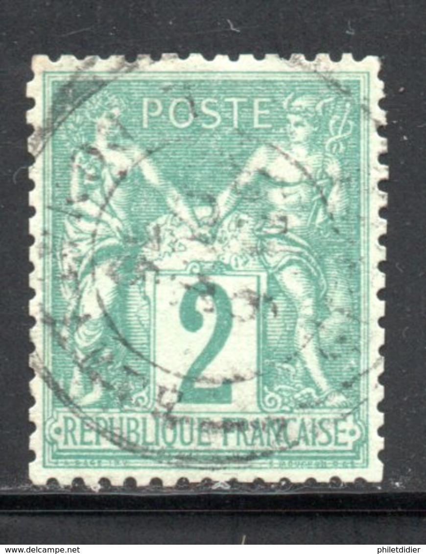 BEAU YT 74 SAGE N/U TRES BIEN CENTRE - CAD LEGER - 1ER CHOIX - AUCUN DEFAUTCOTE 30 € - 1876-1898 Sage (Tipo II)