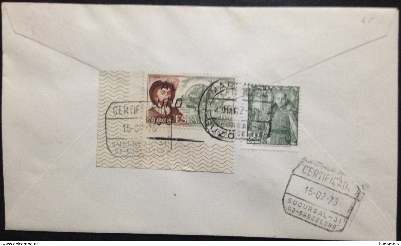 "Spain, Registered And Circulated FDC, ""Monarchy"", ""Serie Básica De S.M. EL REY"", 1976 - FDC"