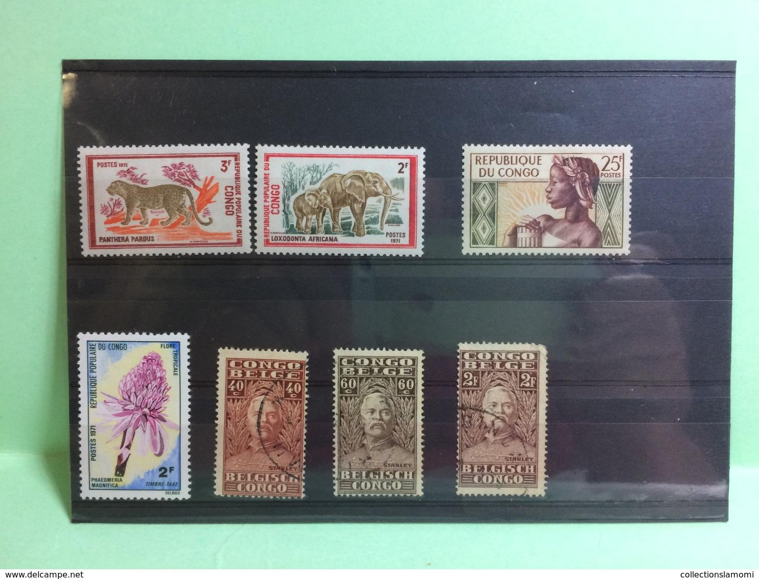 Lot Timbres Oblitérés + Neufs +surcharge Pays Monde Voir Photos - Stamps
