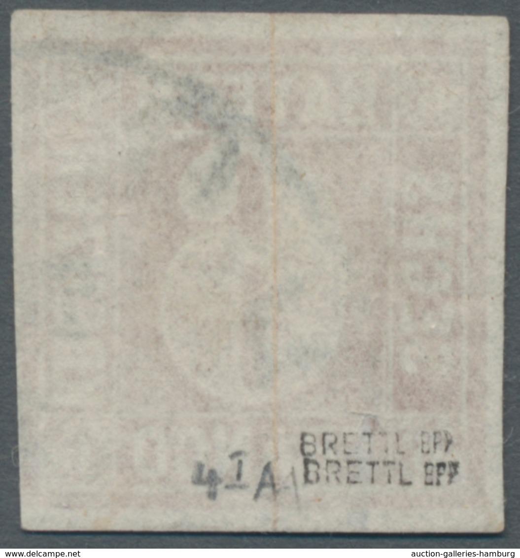Bayern - Marken Und Briefe: 1849, Freimarke 6 Kreuzer Lebhaftrötlichbraun Mit Unterbrochnem Kreis (T - Bavaria