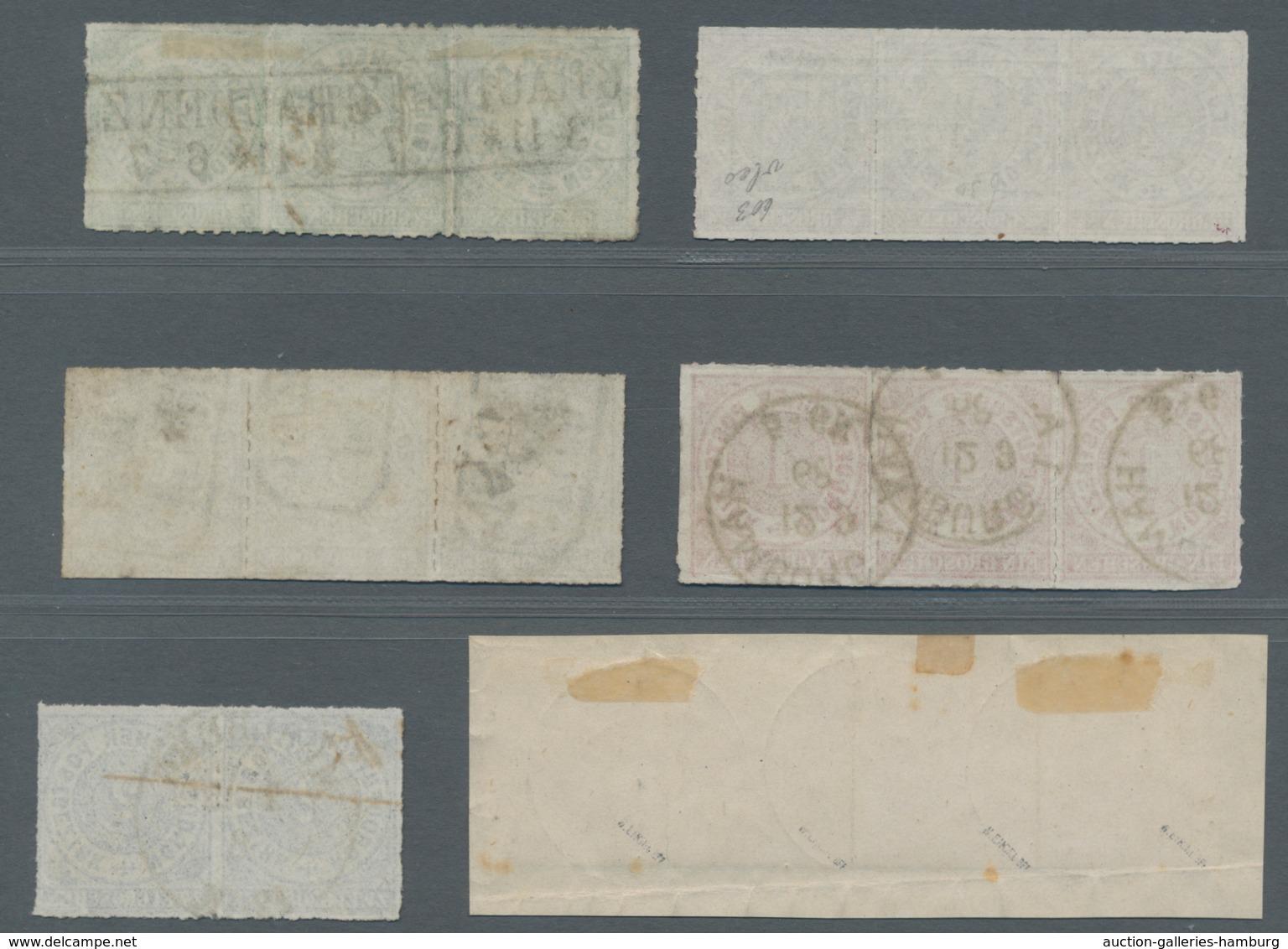 Norddeutscher Bund - Marken Und Briefe: 1868, 1/4 Gr. Bis 5 Gr. In Einheiten, Meist Sauber Gestempel - North German Conf.
