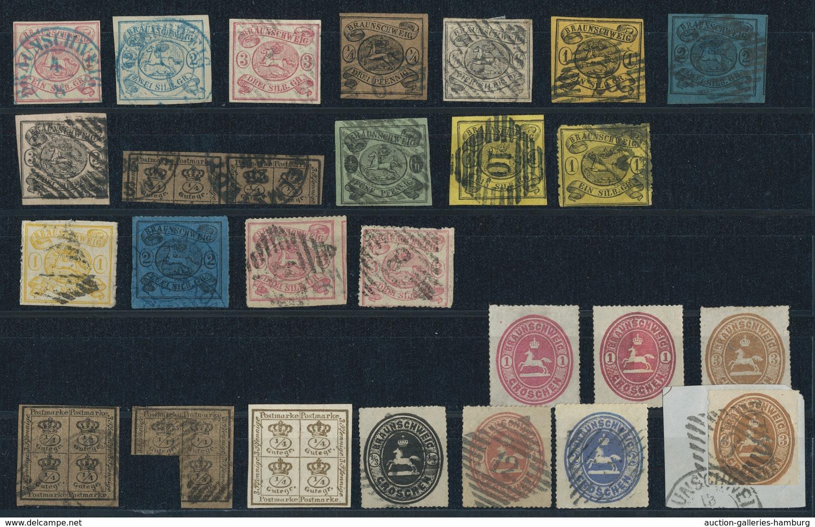 Braunschweig - Marken Und Briefe: 1852-1865, Bessere überwiegend Gestempelte Partie Mit U.a. Mi.Nr. - Brunswick