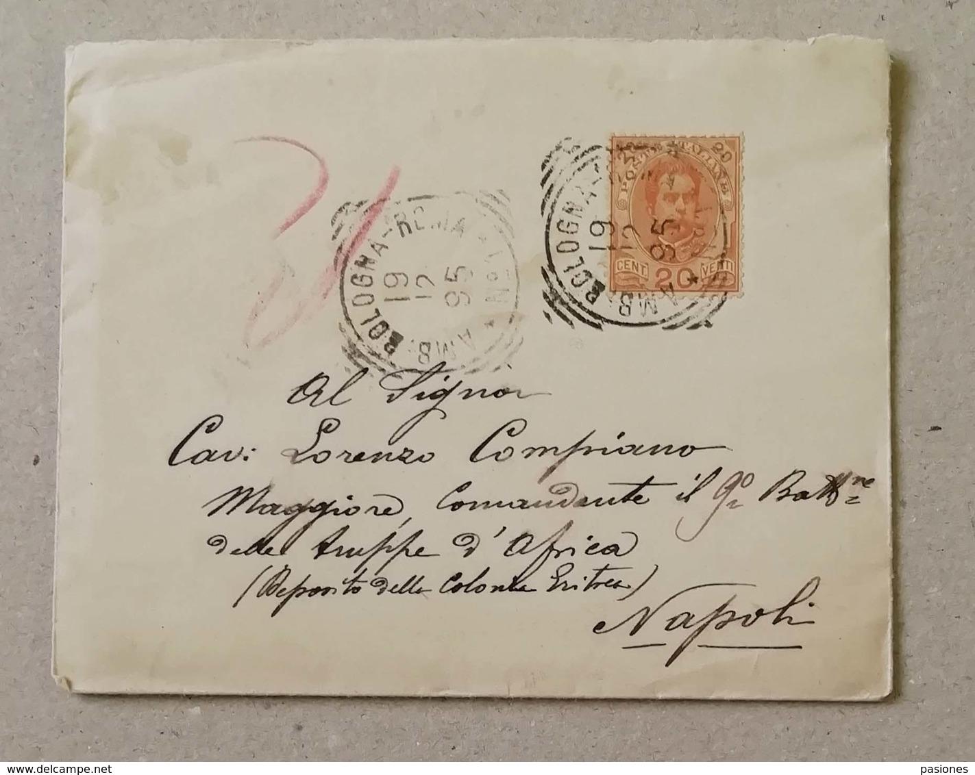Scritto Firenze-Napoli Per Il Comandante Del 9° Battaglione Delle Truppe D'Africa Eritrea - 19/12/1895 Con Testo - Marcofilía