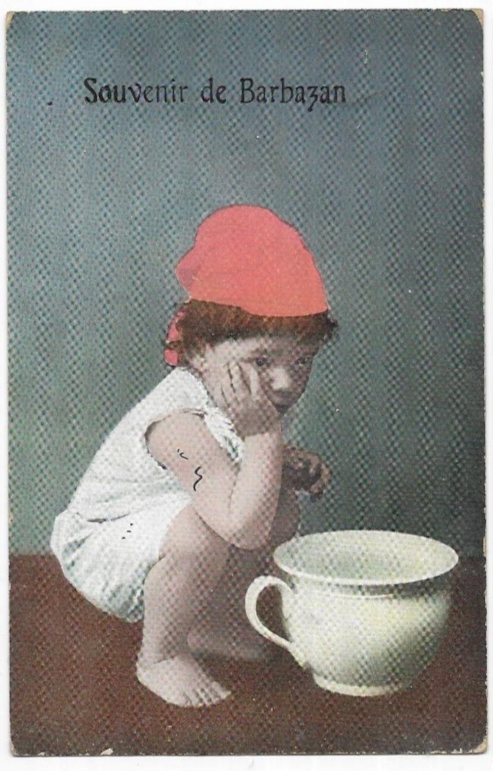 Barbazan Souvenir De Barbazan Enfant Et Pot De Chambre - Barbazan