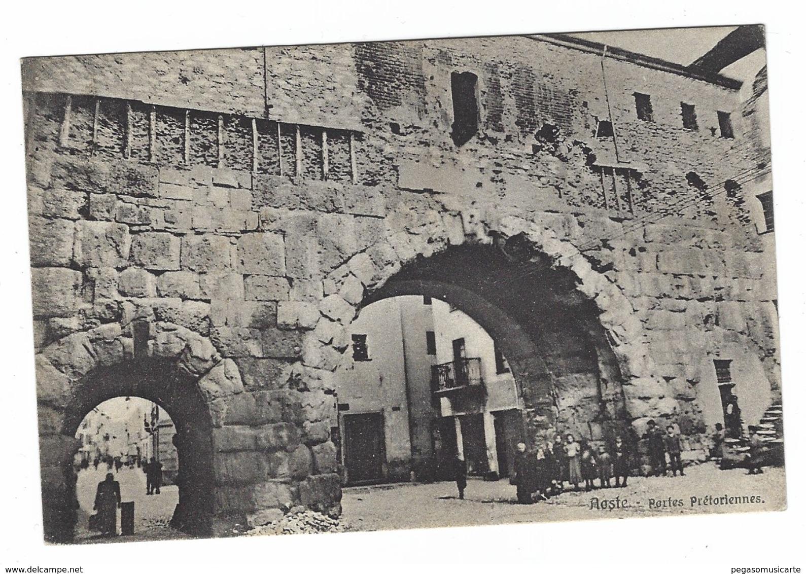 3011 - AOSTA AOSTE PORTES PRETORIENNES ANIMATA 1928 - Aosta