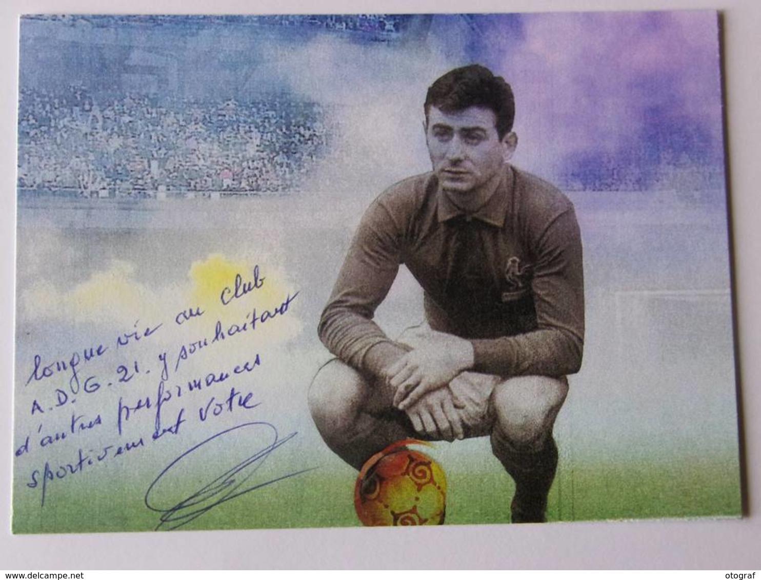 CP - Pierre GRILLET - Signé / Hand Signed / Dédicace Authentique / Autographe - Football