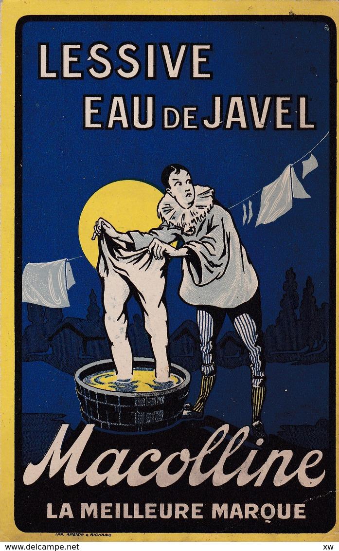 PUBLICITE -  LESSIVE EAU DE JAVEL MACOLLINE (Pierrot)  La Meilleurs Marque - Publicidad
