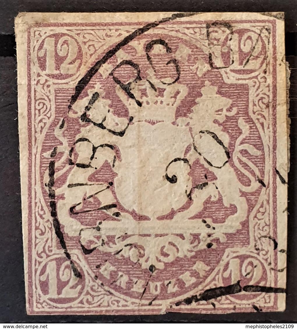 BAYERN / BAVARIA 1867 - Canceled - Mi 18 - 12kr - Bayern