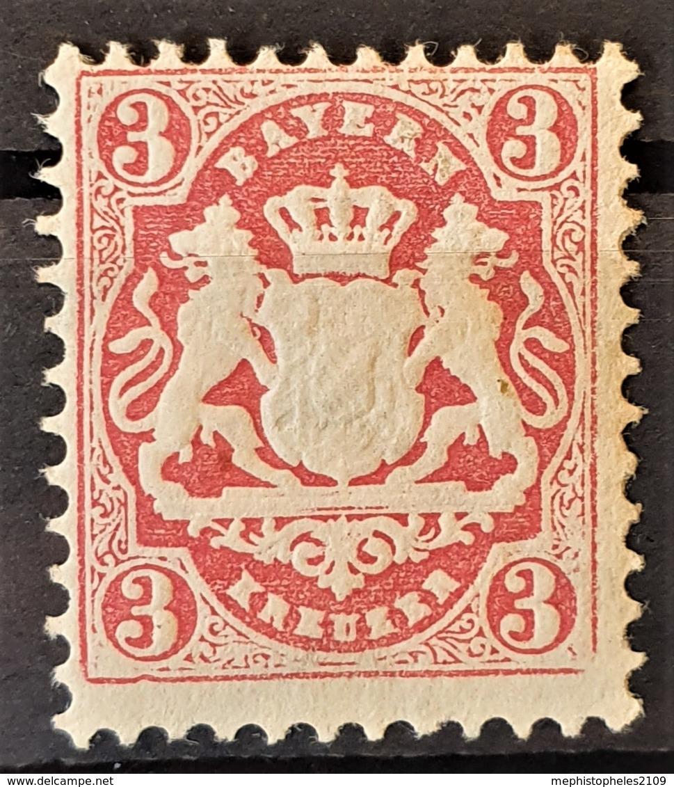 BAYERN / BAVARIA 1870 - MLH - Mi 23Y - 3kr - Bayern