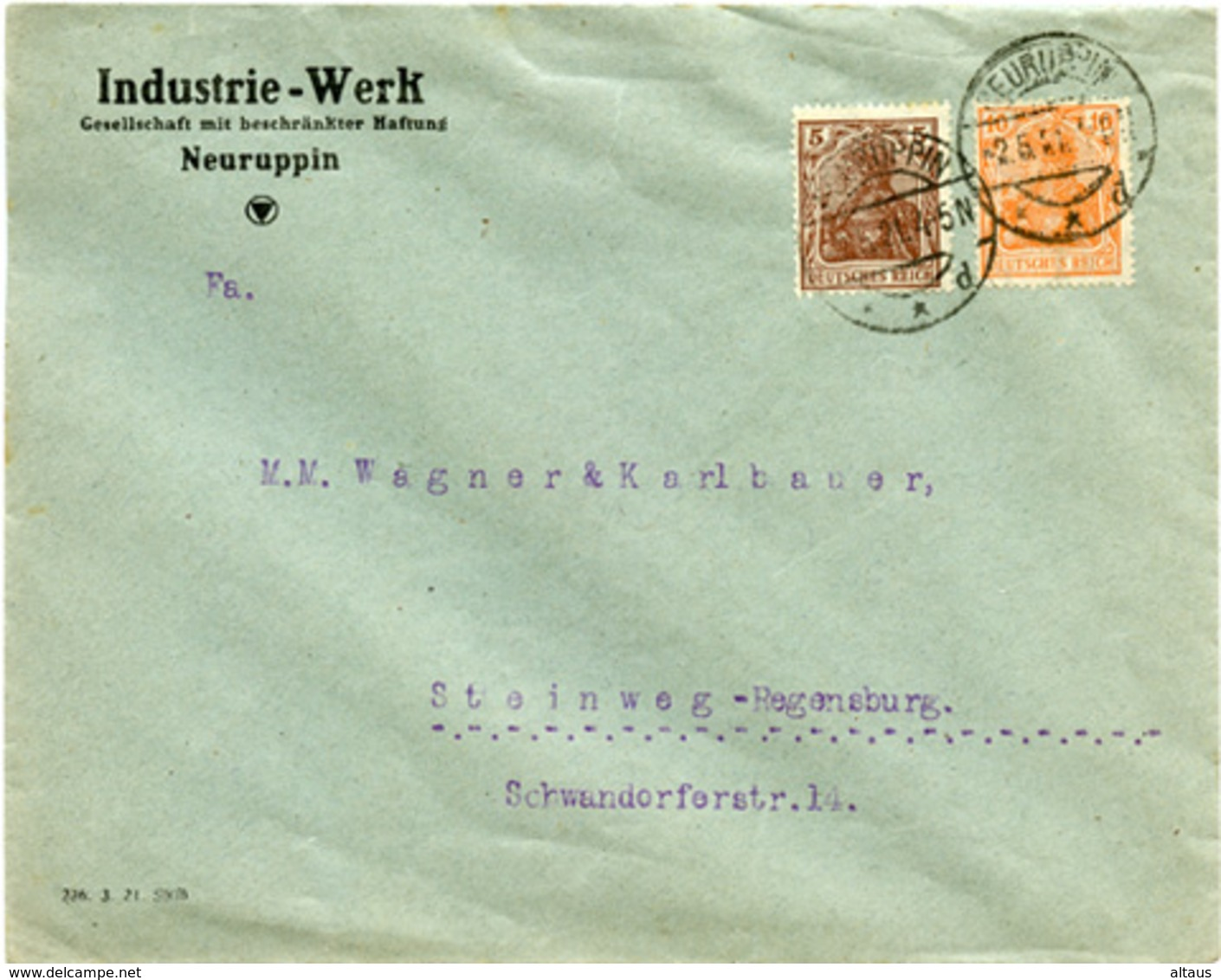 (Lo3820) Brief DR St. Neuruppin N. Steinweg - Deutschland