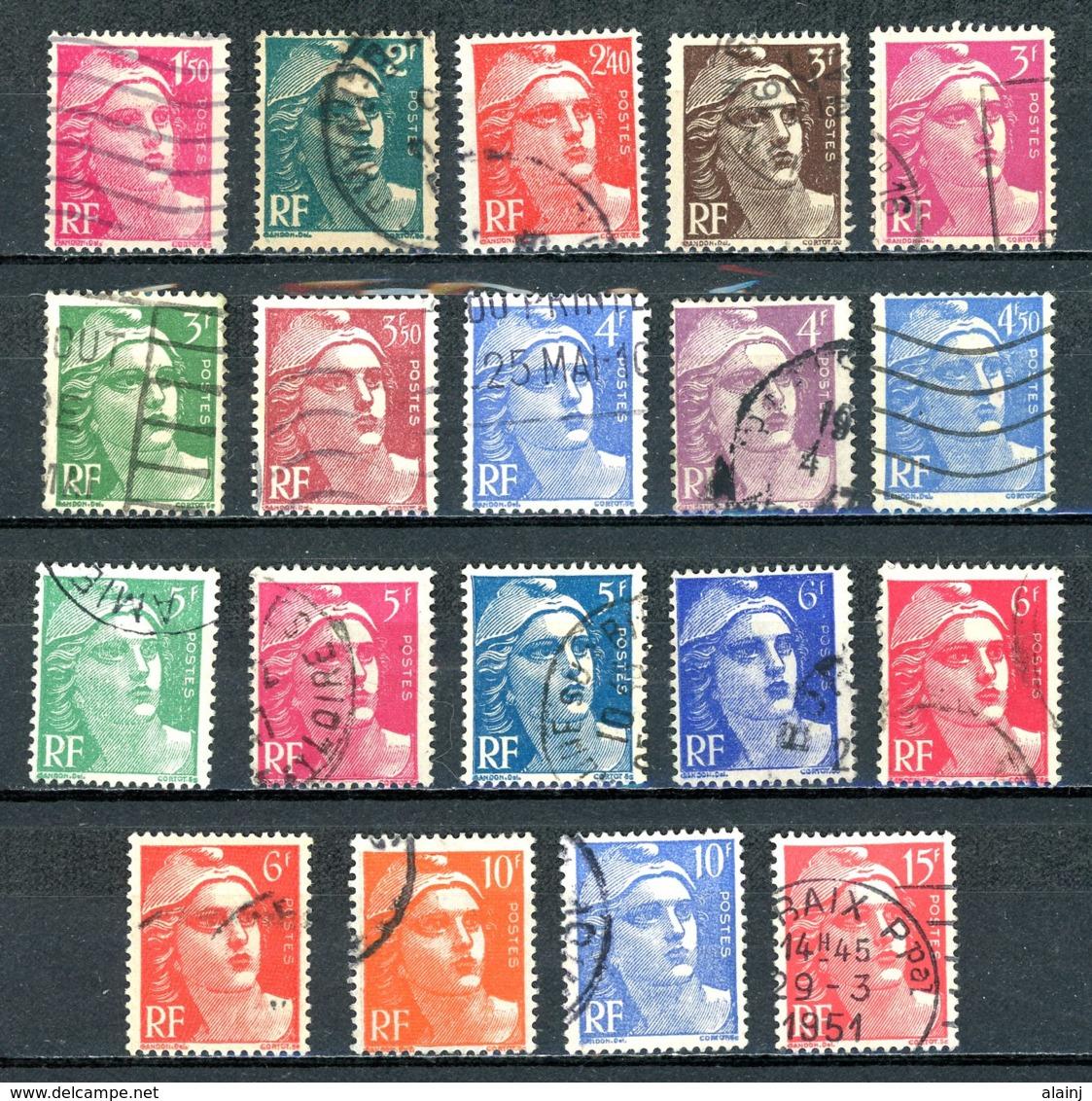 France   Y&T   712 - 724   Obl    ---     Parfait état... - 1945-54 Marianne De Gandon
