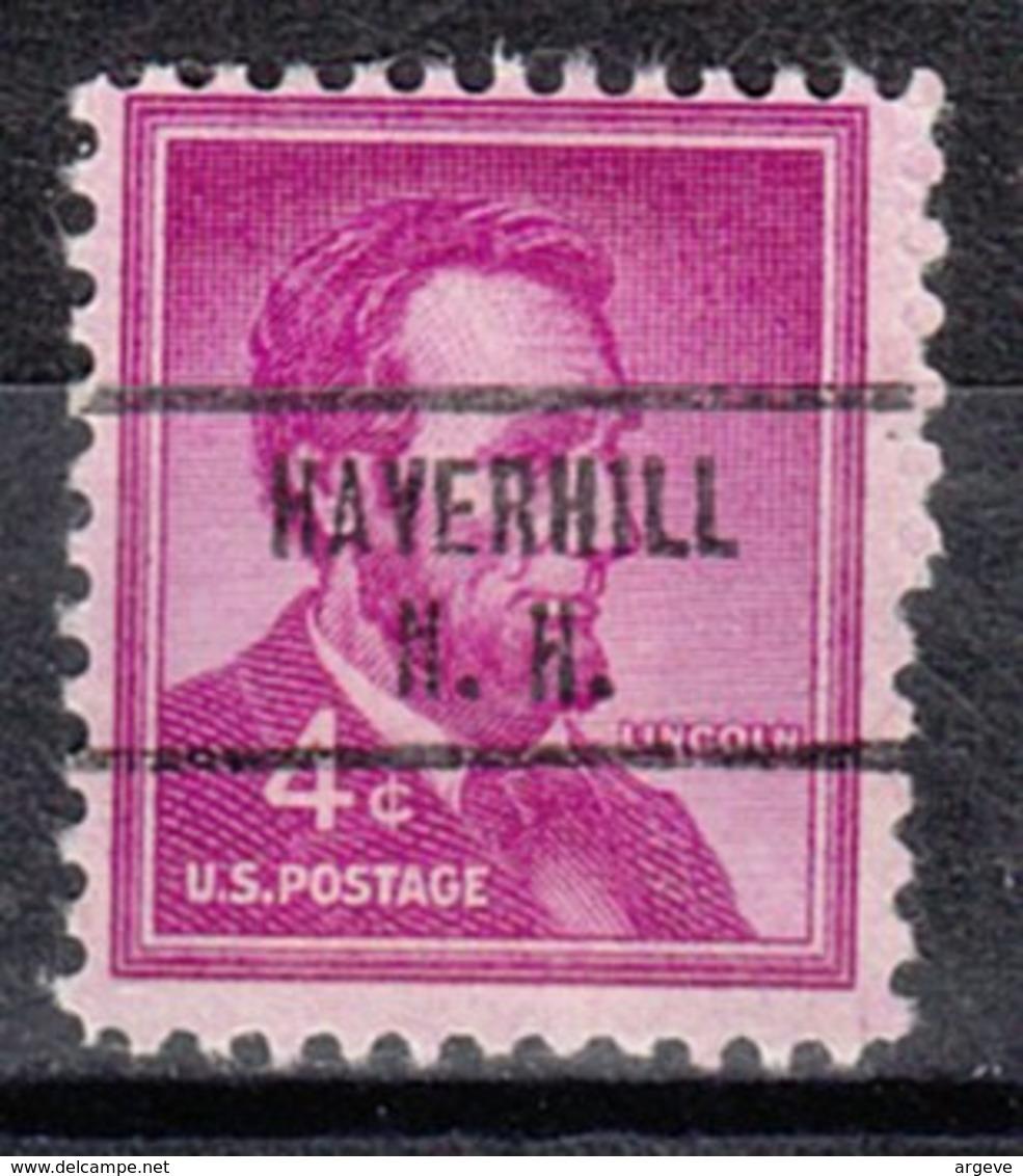 USA Precancel Vorausentwertung Preo, Locals New Hampshire, Haverhill 734 - United States