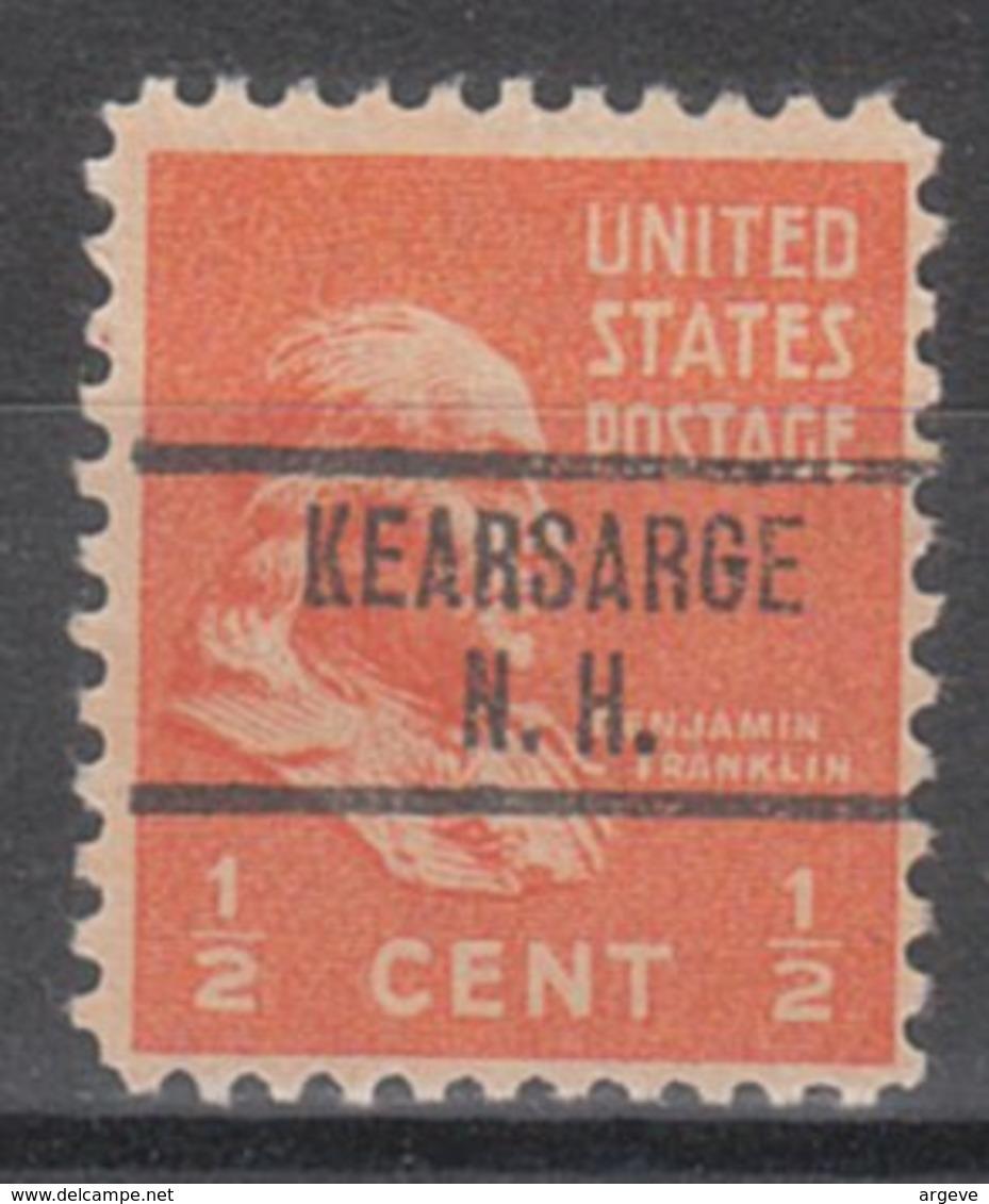 USA Precancel Vorausentwertung Preo, Locals New Hampshire, Kearsage 734 - Vereinigte Staaten
