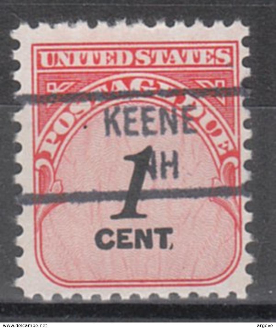 USA Precancel Vorausentwertung Preo, Locals New Hampshire, Keene 841 - Vereinigte Staaten