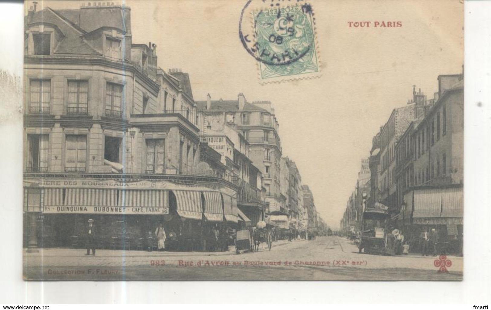 Tout Paris, 983. Rue D'Avron Au Boulevard De Charonne - Distretto: 20