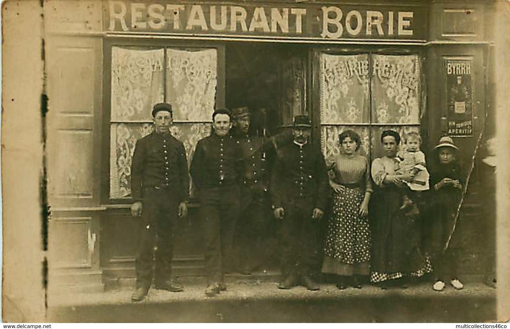 040220B - CARTE PHOTO COMMERCE DEVANTURE - 19 TULLE Restaurant BORIE Pub BYRRH Apéritif Vin Tonique - Tulle