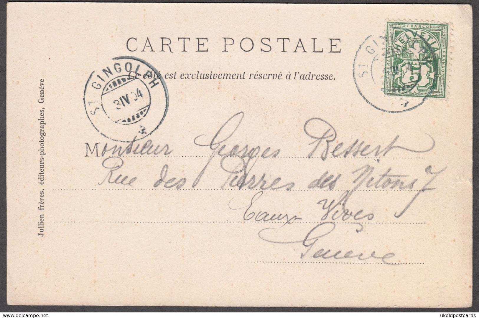 CPA  Suisse, SAINT GINGOLPH, Douane, 1904 - VS Valais