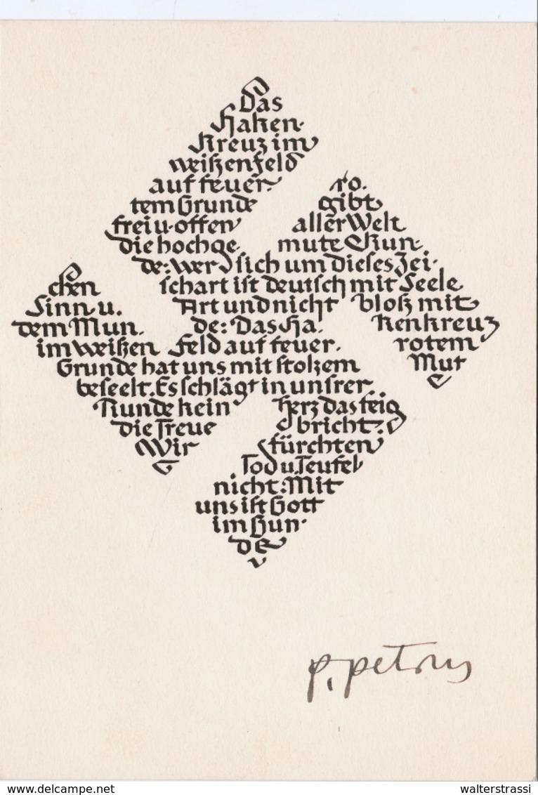 """III. Reich, """" Das Hakenkreuz """" Von Prof. Petrus Mayrhofer, Gedicht Von Ottokar Kernstock - Weltkrieg 1939-45"""