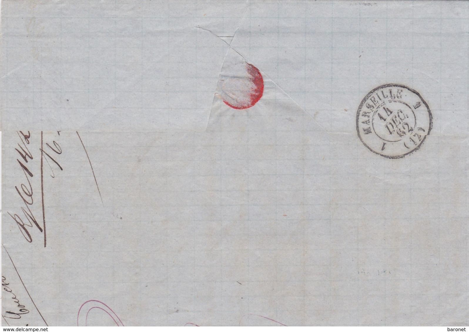N° 14 S / L Complète Avec Texte GC 5051 + T 15 Oran Algerie 10 Dec 62 Pour Marseille - Marcophilie (Lettres)