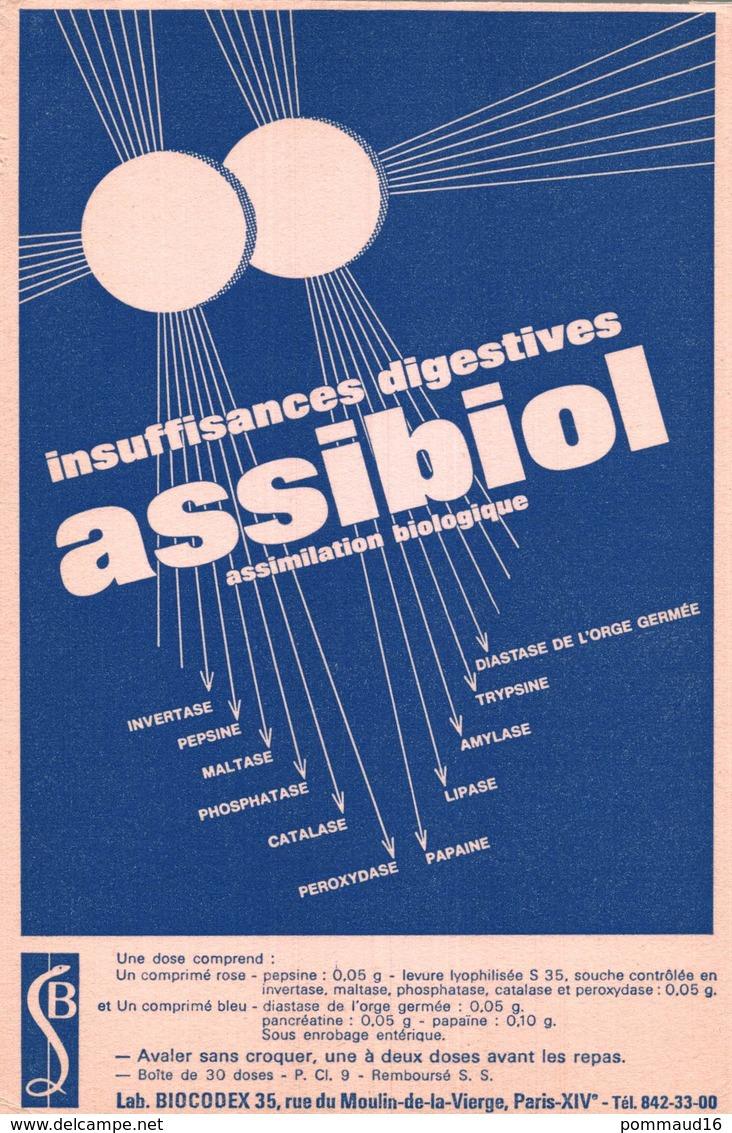 Buvard Assibiol - Produits Pharmaceutiques