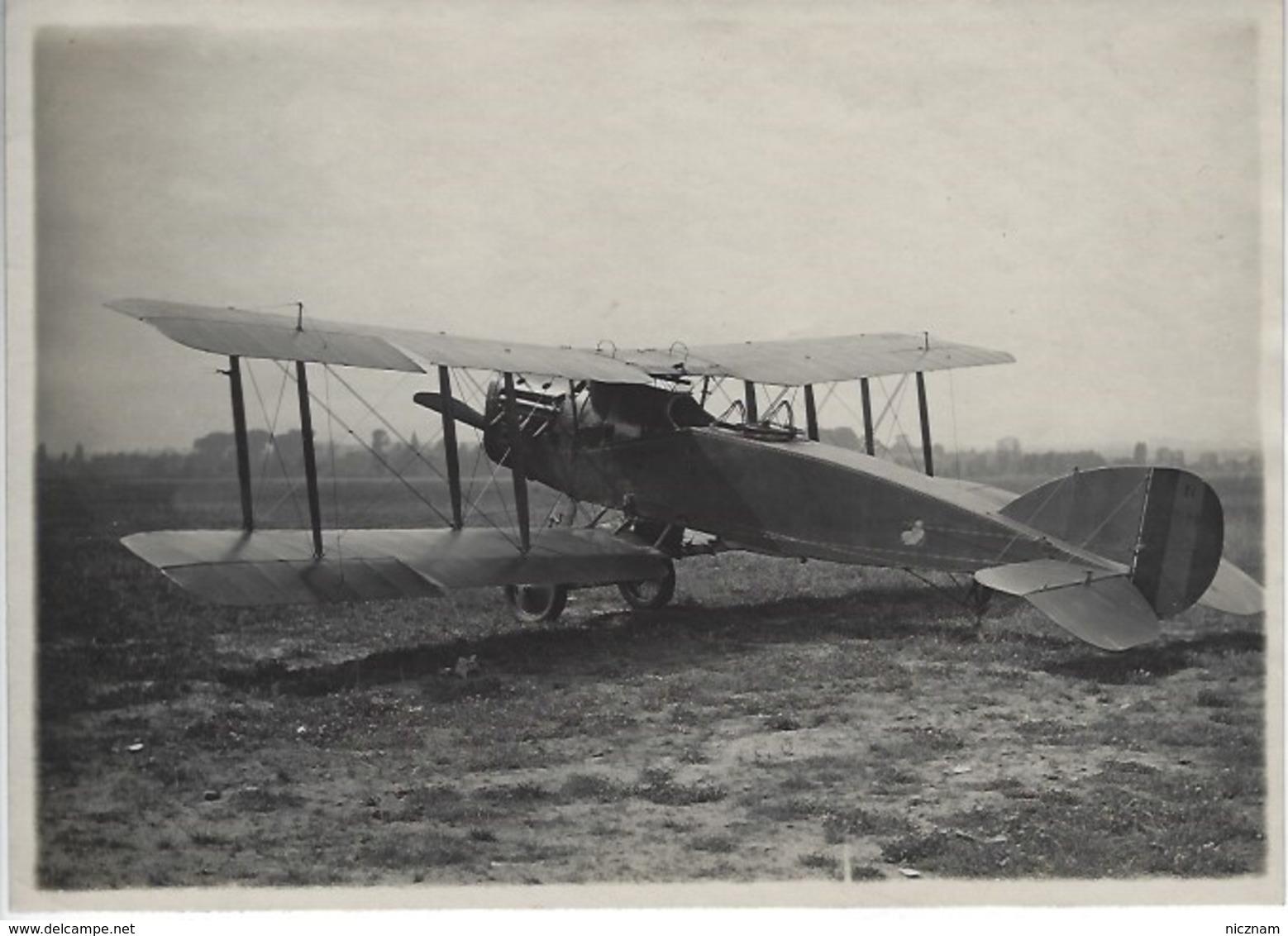 RARE - WWI - Aviation Militaire - Photo Originale Annotée - BRISTOL Avion Reconnaissance Anglais - Luchtvaart