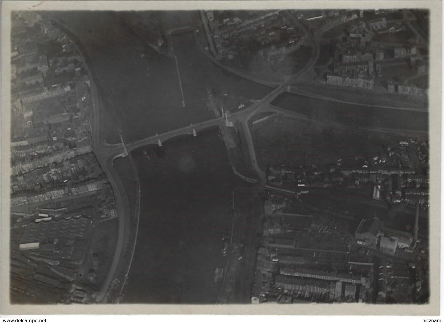 RARE - WWI - Aviation Militaire - 2 Photos Originales Annotées - Vue Panoramique Liège - Luchtvaart