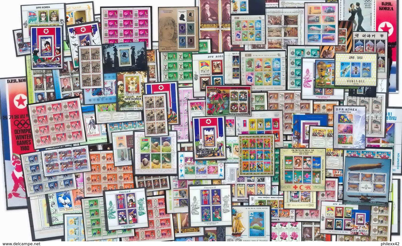 Départ 1 Euro  Collection + 100 Blocs COTE + 500 Euros Jeux Olympiques Olympic Animaux Animals Topics -100 Photos à Voir - Briefmarken