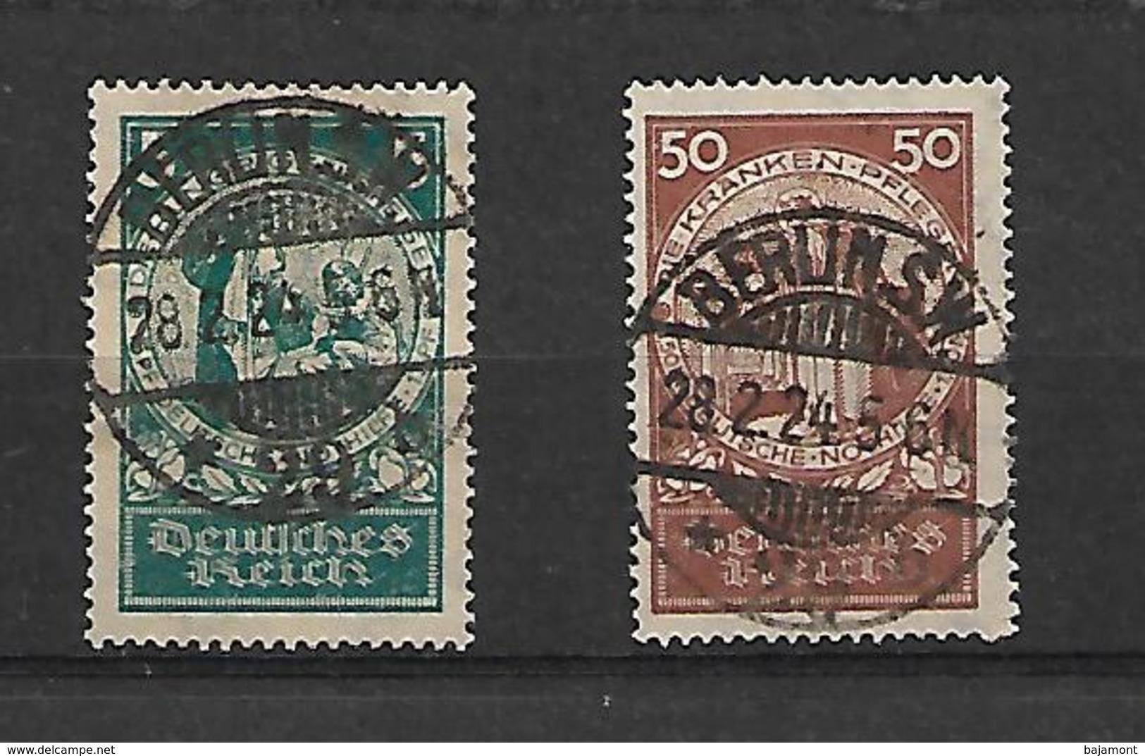 TIMBRES D'ALLEMAGNE. REICH 1924 .  N° 344 ET 347.  OBLITERE. COTE +60€. TRES BEAUX CACHETS - Allemagne