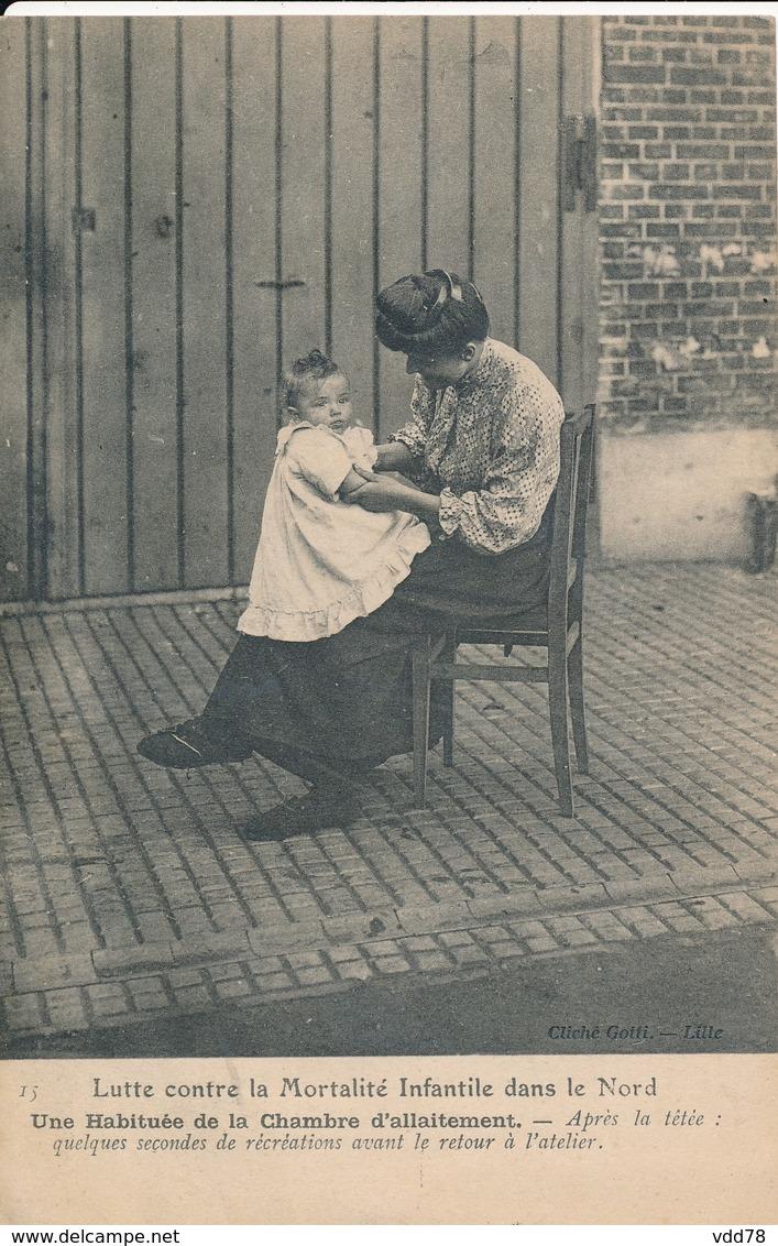 Lille Lutte Contre La Mortalité Infantile Dans Le Nord Une Habituée De La Chambre D'allaitement Superbe Photo Rare TBE - Lille