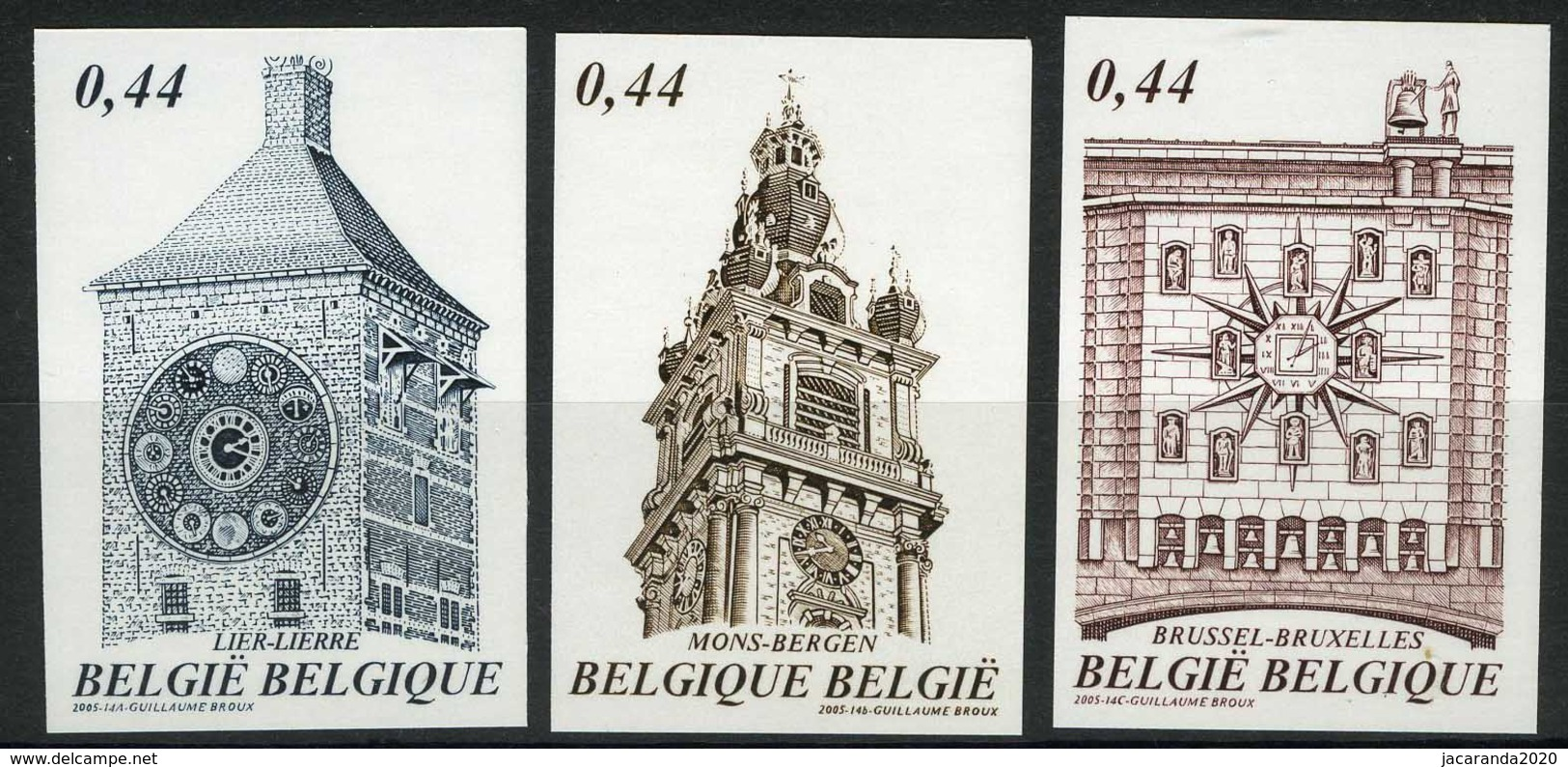 [A2963] België 3396/98 – Toerisme – Uurwerken – Zimmertoren – Tour De L'horloge – ON – Cote: € 30,00 - België