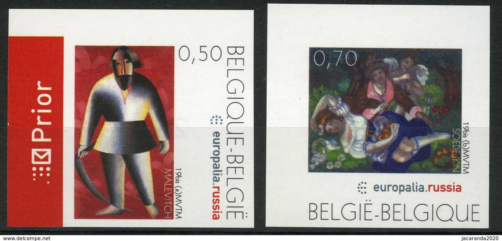 [A2982] België 3430/31 – Europalia – Rusland – Schilderijen – Russie – Tableaux – ON – Cote: 20,00 - België