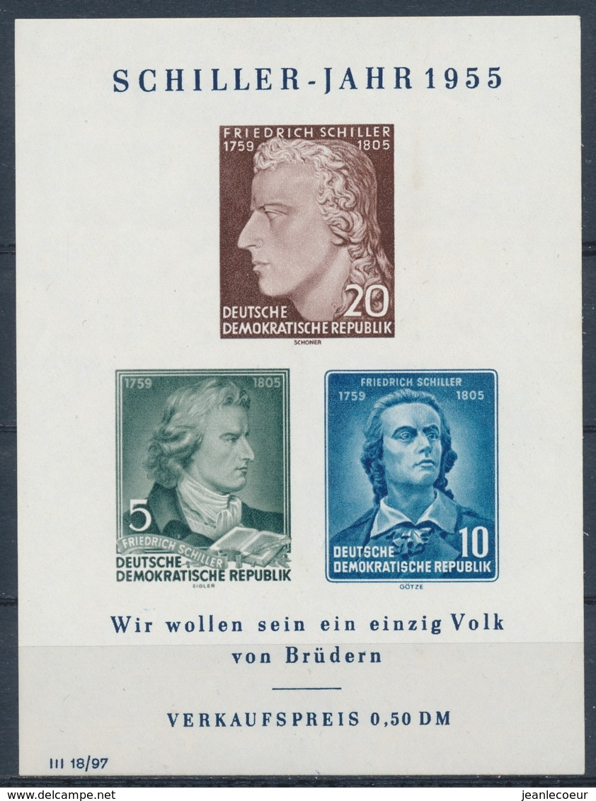 DDR/East Germany/Allemagne Orientale 1955 Mi: Block 12 (PF/MNH/Neuf Sans Ch/nuovo Senza C./**)(5123) - [6] Oost-Duitsland